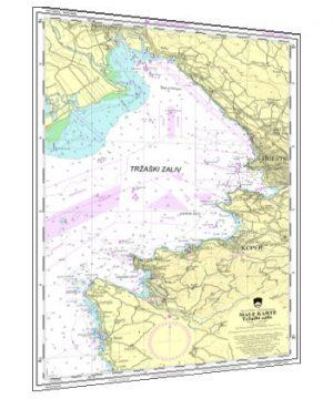Navigacijska karta (Tržaški zaliv) za tečaj in izpit za voditelja čolna