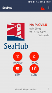 SeaHub menu