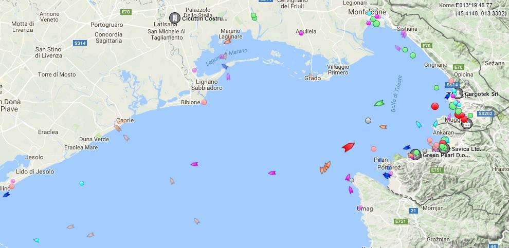 AIS v Tržaškem zalivu
